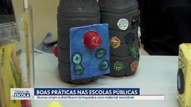 Diário de Escola: Escolas de SP debatem educação ambiental desde cedo - Alunos criam e distribuem brinquedos feitos de materiais recicláveis na Zona Oeste de SP.