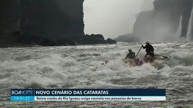Seca nas Cataratas do Iguaçu - Passeios de barco tem que ser realizados com mais cuidado