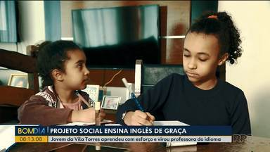 Projeto social ensina inglês de graça - Projeto é desenvolvido na vila torres em Curitiba.