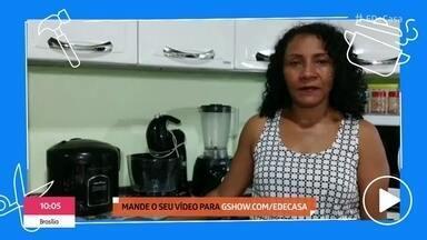 Receita de palha italiana agrada telespectadores - Galera manda vídeos mostrando que reproduziu a receita apresentada no 'É de Casa'