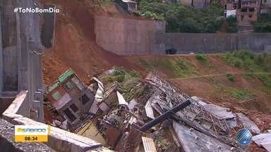 Casas condenadas na Fazenda Grande do Retiro começam a ser demolidas - Desabamentos começaram na madrugada de sexta-feira (4) e 53 imóveis foram interditados.