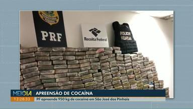 Polícia apreende uma tonelada de cocaína no Paraná - Foram duas apreensões, uma delas em Santa Tereza do Oeste e outra em São José dos Pinhais.