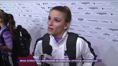 Brasil vai estrear no Mundial de ginástica artística, em Stuttgart - Brasil vai estrear no Mundial de ginástica artística, em Stuttgart