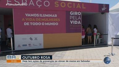 Mutirão de prevenção ao câncer de mama acontece neste sábado (5), no bairro da Barra - É possível fazer exames gratuitos nos stands montados no local. Saiba como participar.