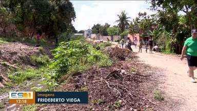 Mutirão de limpeza em Sooretama, ES, tenta recuperar córrrego - Muitos voluntários se reuniram.