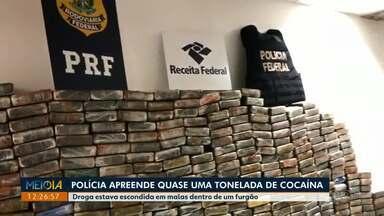 Polícia apreende quase uma tonelada de cocaína na BR-376 - Também na BR-376, a polícia apreendeu 500 comprimidos de ecstasy que seriam levados para Maringá.