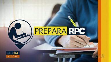 Prepara: a partir de segunda (7) tem reportagens especiais com dicas para o vestibular - Fique ligado que o Meio Dia Paraná vai te ajudar com dicas importantes para a prova.