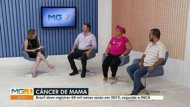 Câncer de mama é tema de debate no MG1 - Outubro é o mês de prevenção ao câncer de mama.