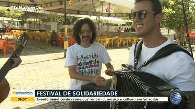 Festival Solidário acontece no bairro de Pituaçu neste sábado (5) - Evento beneficente reúne comida, música e cultura em Salvador.