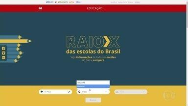 G1 lança ferramenta que reúne dados de todas as escolas do Brasil - Para fazer a busca na página do G1, basta colocar o estado, a cidade e, se possível, o nome da escola que quer consultar. O Raio X das Escolas do Brasil reúne dados sobre Enem, infraestrutura e índices de educação.