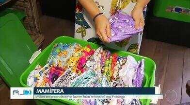 Mães empreendedoras fazem feira artesanal em Nova Friburgo, no RJ - Evento ocorreu neste sábado (5) em Lumiar.