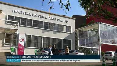 Paraná é o estado que menos recusa a doação de órgãos no país - Associação mostrou que em 2018 o estado teve uma taxa de recusa de 27%.