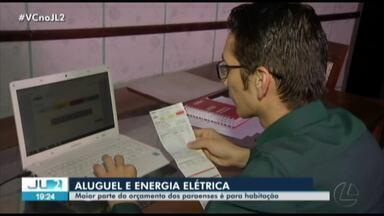 Paraenses gastam quase 30% da renda familiar com aluguel e energia elétrica - A maior parte do orçamento doméstico está comprometido com habitação.