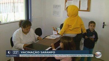 Pouso Alegre antecipa dia D da campanha de vacinação contra o sarampo - Pouso Alegre antecipa dia D da campanha de vacinação contra o sarampo