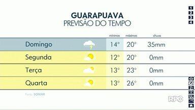Domingo deve ser chuvoso em Guarapuava (6) - Após um sábado de muito calor chuva deve aparecer nos próximos dias.