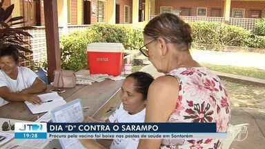 Procura pela vacina contra sarampo é considerada baixa nos postos de saúde em Santarém - Dia 'D' foi realizado neste sábado (5).