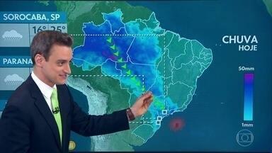 Previsão é de segunda-feira nublada no RJ - Em todo o estado de São Paulo, o dia vai ser mais encoberto. Chove no leste do Nordeste.