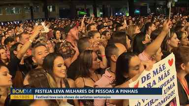 15 mil pessoas vão a Pinhais para acompanhar shows do Festeja - Sábado foi de música e diversão para os fãs de música sertaneja.