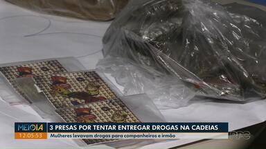 Três mulheres são presas em Ponta Grossa tentando entrar na cadeia pública com drogas - Duas visitavam os companheiros e a terceira foi visitar o irmão nesse domingo (6).