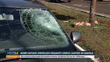 Haitiano atropelado em junho morre no hospital - Acidente foi na Avenida Nóbrega
