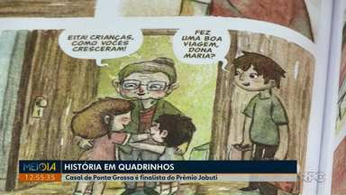 Casal de Ponta Grossa é finalista no maior prêmio de literatura do Brasil - Eles produziram um livro que concorre na categoria 'quadrinhos'.