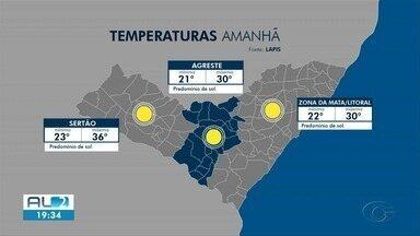 Confira a previsão do tempo para a terça-feira, 8 de outubro, em Alagoas - Boletim é do Laboratório de Análise e Processamento de Imagens de Satélites da Ufal.