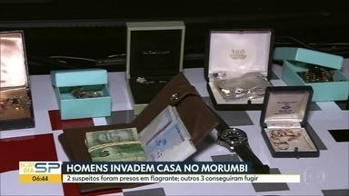 Homens são presos durante assalto à residência no Morumbi - Caso aconteceu na madrugada desta terça-feira (8) na Zona Sul de São Paulo