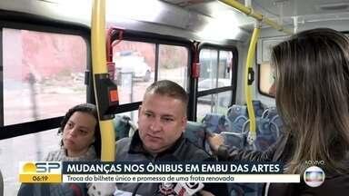 Mudanças nos ônibus em Embu das Artes - Troca do bilhete único e promessa de frota renovada deixam a desejar, segundo usuários.