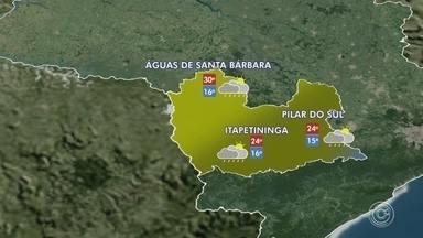 Previsão do tempo: confira como fica a temperatura na região de Sorocaba nesta terça, 8 - Previsão do tempo: confira como fica a temperatura na região de Sorocaba e Itapetininga nesta terça-feira (8).