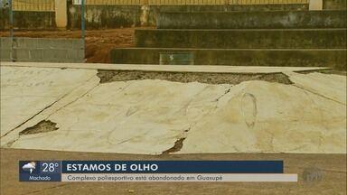 Moradores reclamam de complexo poliesportivo abandonado em Guaxupé, MG - Moradores reclamam de complexo poliesportivo abandonado em Guaxupé, MG