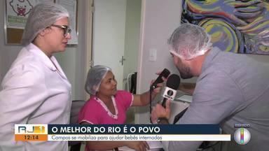 Moradores de Campos se mobilizam para ajudar bebês internados com doações de leite materno - De 40 crianças internadas na UTI do Hospital Plantadores de Cana, 12 só se alimentam com leite materno.
