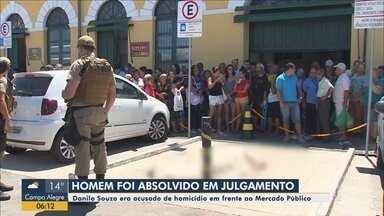 Júri absolve acusado de mandar matar homem no Mercado Público em Florianópolis - Júri absolve acusado de mandar matar homem no Mercado Público em Florianópolis