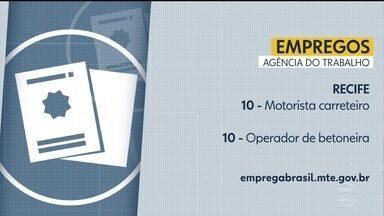 Confira vagas disponíveis na Agência do Trabalho - Há oportunidades no Recife e também no interior.