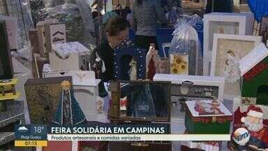 Feira Solidária da Catedral traz produtos artesanais e comidas variadas a Campinas - A mostra começa às 8h desta quarta-feira (9) e vai até sexta-feira (11).