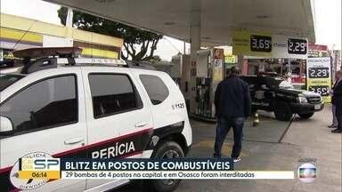Bombas de postos de combustíveis foram lacradas após irregularidades - São 29 bombas em 4 postos diferentes na cidade de São Paulo