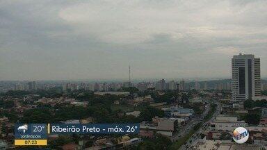 Confira a previsão do tempo para esta quarta-feira (9) em Ribeirão Preto - Temperatura pode chegar a 26ºC.