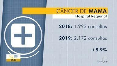 Mês de outubro é marcado por ações de prevenção ao câncer de mama - Atendimenos relacionados a essa doença vêm aumentando em Presidente Prudente.
