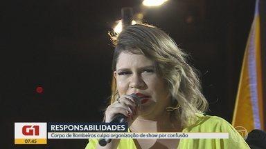 G1 no BDMG: Corpo de Bombeiros aciona o MP por problemas no show de Marília Mendonça - PM disse que também encaminhará um termo ao Ministério Público nos próximos dias. Organização do evento pode responder por problemas provocados.