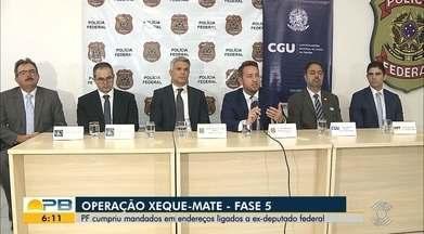 Operação Xeque-Mate; PF cumpriu mandados em endereços ligados a ex-deputado federal - Confira os detalhes com o repórter Danilo Alves.