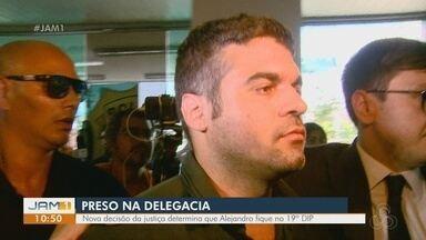 Decisão judicial determina que Alejandro fique no 19° DIP - Prisão temporária tem prazo de 30 dias.