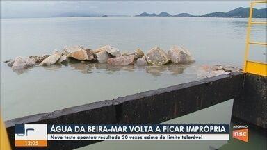Novo teste aponta que água da Beira-mar Norte, em Florianópolis, está imprópria para banho - Novo teste aponta que água da Beira-mar Norte, em Florianópolis, está imprópria para banho