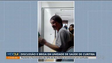 Discussão entre funcionário de UPA e paciente termina em confusão - Foi ontem (9) à noite no bairro Boa Vista, em Curitiba.