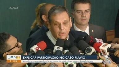 Luiz Alberto Carijó comenta sindicâncias abertas sobre morte do engenheiro Flávio - Vereadores querem explicação sobre uso de funcionários e carro da prefeitura.