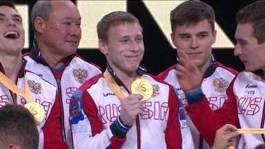 Ginastas Russos ficam com ouro em final masculina por equipes - Ginastas Russos ficam com ouro em final masculina por equipes