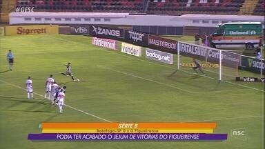 Com pênalti perdido no fim, Figueira deixa escapar vitória sobre o Botafogo-SP - Com pênalti perdido no fim, Figueira deixa escapar vitória sobre o Botafogo-SP