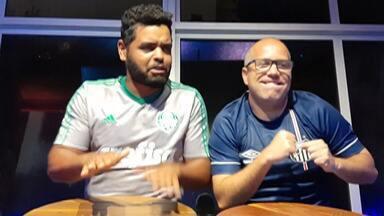 Resenha 2019: Garotinhos fazem aposta para o clássico entre Santos x Palmeiras - O Carlinhos Silva e o Fernandinho Souza prometeram uma aposta especial em homenagem ao dia de combate a violência contra as mulheres.
