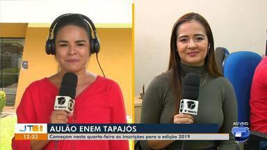 Inscrições para o aulão Enem Tapajós 2019 iniciam nesta quarta-feira - Saiba como participar.
