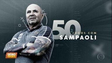 Sampaoli completa 50 jogos pelo Santos. Conheça mais sobre o estilo do treinador - Sampaoli completa 50 jogos pelo Santos. Conheça mais sobre o estilo do treinador