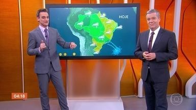 Previsão é de temporais em Roraima, Amazonas e Rondônia nesta quinta-feira - As temperaturas voltam a subir em São Paulo. Saiba como vai ficar o tempo em todo o país.