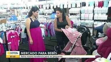 Feira de produtos para crianças é realizada em Montes Claros - O mercado infantil movimenta mais de R$ 50 bilhões por ano, em todo o País. Feira mostra tendência de roupas para os pequenos.